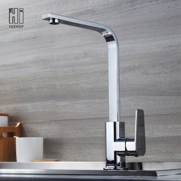 Original Factory for Kitchen Faucet HIDEEP Full Brass Chrome Kitchen Sink Faucet supply to United States Exporter