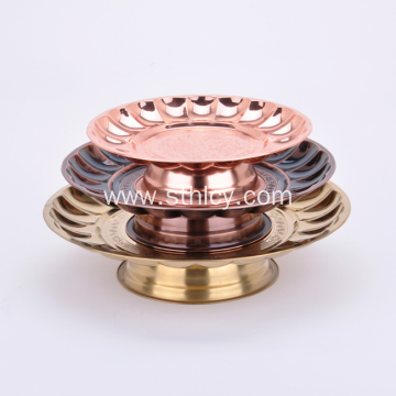 Stainless Steel Round Shape Plate With Pedestal