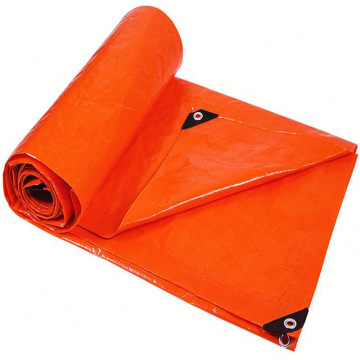 Orange Tarpaulin Construction Site Protection Cover