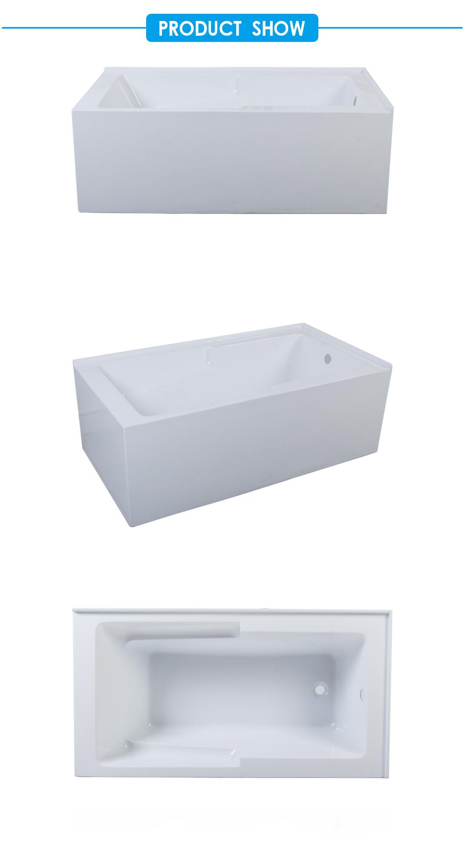 Baignoire Fibre De Pierre chine baignoire d'angle en alcove à deux parois, 60 x 32