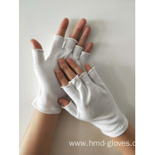 Nylon Fingerless White Gloves