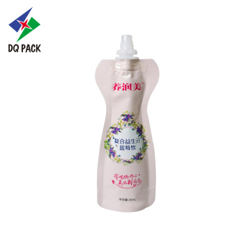Special shape bag with spout liquid standing pouch