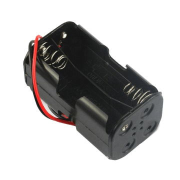 4 AA Battery Holder Double with Wire leads
