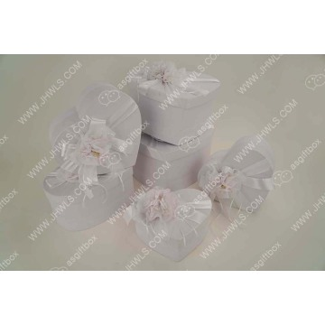 Handmade White Customized Flower Gift Box