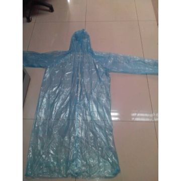 Disposable Blue rain poncho