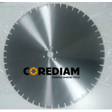 Laser welded diamond reinforced concrete wall saw blade