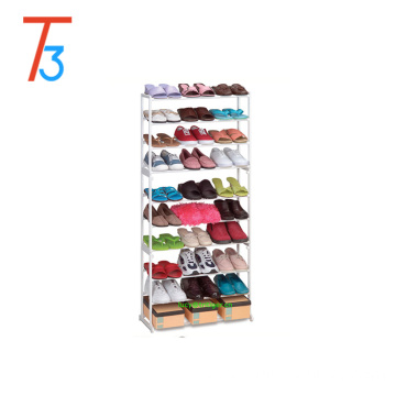 10 Tier 30 pair White Resin Shoe Tower Rack Shoe Storage Organizer Shoe Cabinet