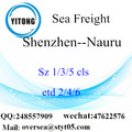 Shenzhen Port LCL Consolidation To Nauru