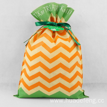 Orange Green Mixed Halloween Gift Packing Bag 30x45CM