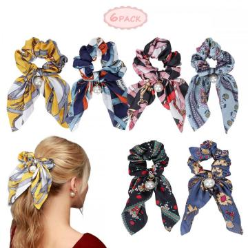 Womens Hair Scarf Hair Tie Scrunchies Elastic