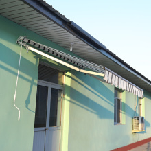 Wholesale Price China for application Retractable arms awning 2*1.5M green and white export to Italy Wholesale