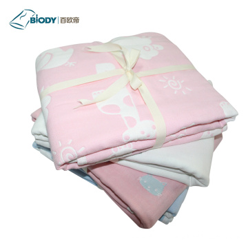 Manufactur standard for Grey Baby Blanket Swaddle Frap NewBorn Baby Receiving Multilayer Blanket supply to Portugal Suppliers