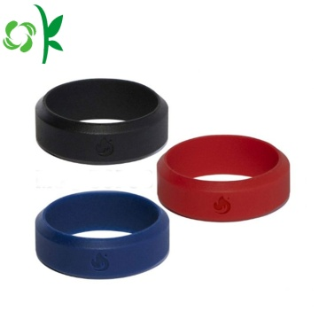 Waterproof Silicone Finger Ring Engraved Engagement Rings