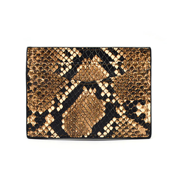 Wholesale Genuine Python Leather Men Business Card Holder