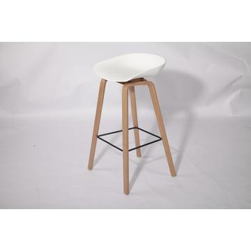 ODM for Wood Kitchen High Bar Chair b&b bar stool backless with footrest export to Indonesia Exporter