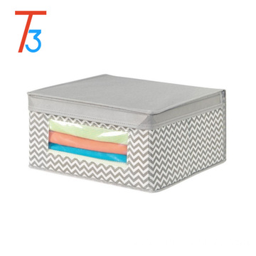 good quality custom printed foldable non woven storage Box and Bin with PVC