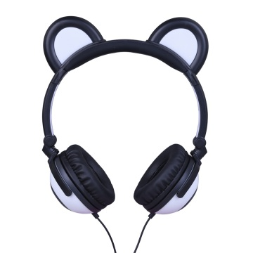 Leading for Bear Earphones OEM Colorful Glowing LED Panda Ear Headphones supply to Bolivia Supplier