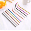 Stainless Steel Rainbow Colored 304 Metal Straws Drinking