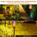 Solar Christmas flame  light OUTDOOR