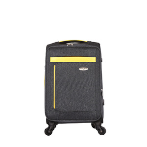 Soft side lightweight fabric waterproof  trolley luggage
