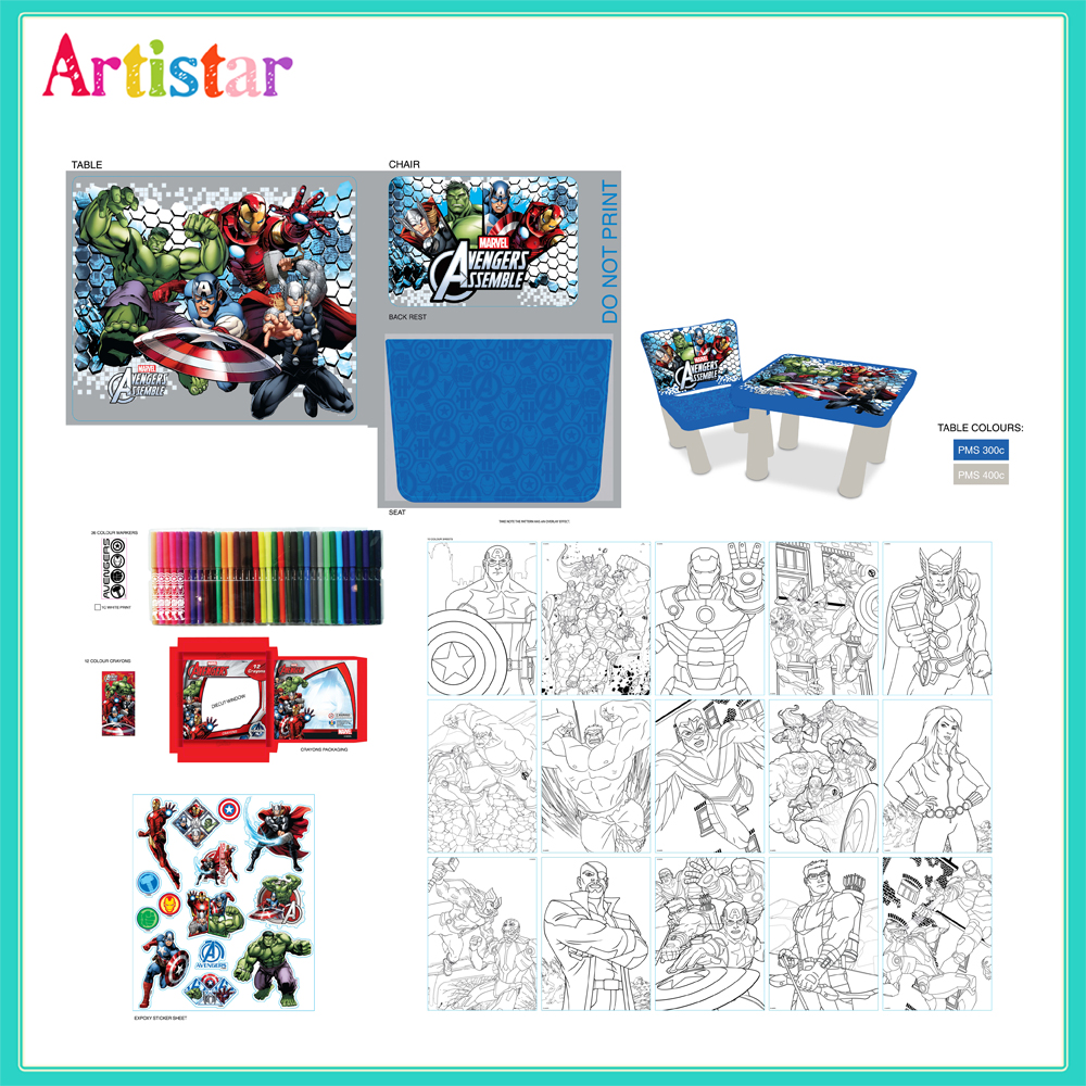 Marvel Avengers Sit Colour Attractive Table 2