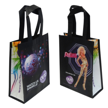 Laminated tote non woven bag custom