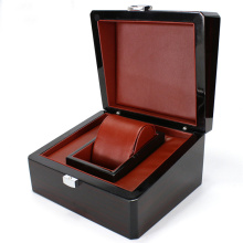 Luxury Custom Logo Wooden Single Watch Box