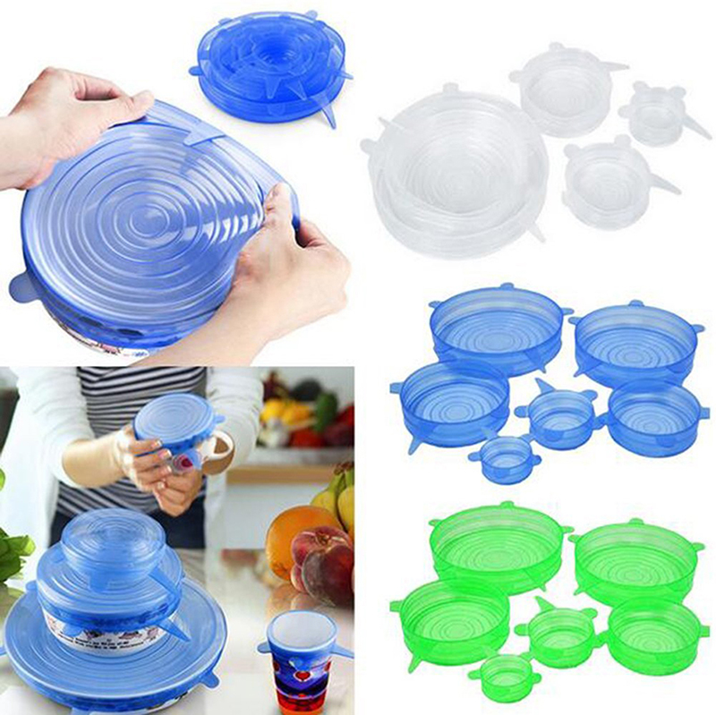 6pcs set Silicone Lids