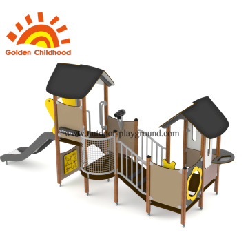 Yellow Outdoor Playground House Combination