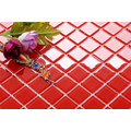 Red Pure Color Glass Mosaic