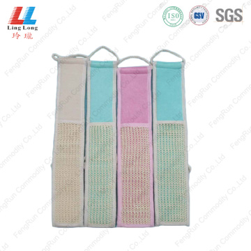 Long loofah bathing sponge product