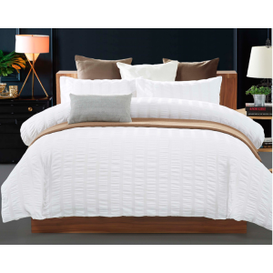 Seersucker bed sheet(cotton or poly)