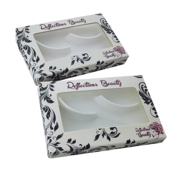 Custom Fold False Eyelash Packaging with PVC window