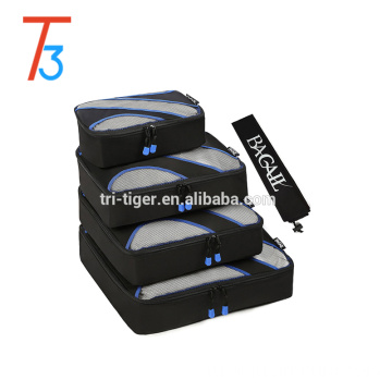 5pcs/set Travel Packing Cubes Set, Luggage Packing Organizers Compression Pouches with Laundry Bag Shoes Bag