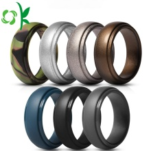 Cool Golden/Silver Powder Silicone Ring Custom Sports Ring