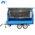 Tow-able mobile food carts trailer verkoop ijs