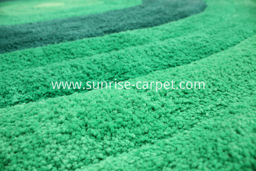 Micorfiber Shaggy 3D design green