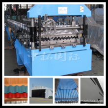 OEM for Glazed Tile rollform machine Roofing Steel Colored Corrugated Sheet roll forming machine export to North Korea Manufacturers