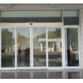 Commercial automatic sliding doors with glass