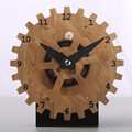 Bamboo Gear Table Clocks