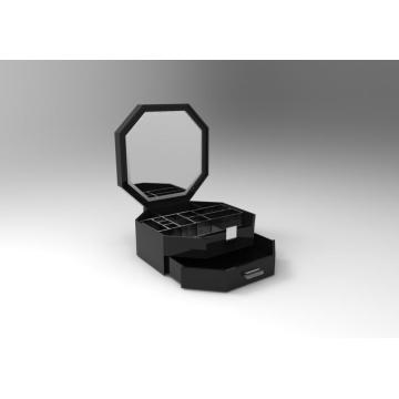 Big Clear Acrylic Makeup Box with Mirror
