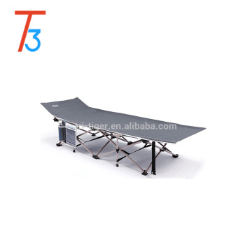 Yes Folded and Single Size steel Outdoor portable folding bed /folding camping bed