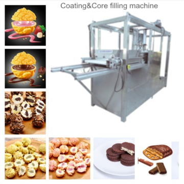 Popcorn coating&core filling machine