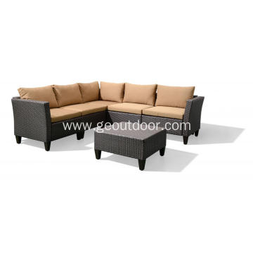 Aluminium PE Wicker Sofa Set