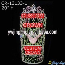 High Quality for Angel Wing Shape Pageant Crown 20 Inch Pageant Crown Angel Wing Shape CR-13133-1 export to Benin Factory