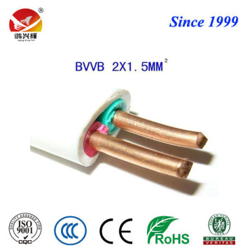 China Professional Supplier for PVC Insulated Flat Electrical Cable, White Copper Pvc Wire, Pvc Insulated Copper Wire from China Supplier flat twin electrical BVVB wire and cable supply to Djibouti Exporter