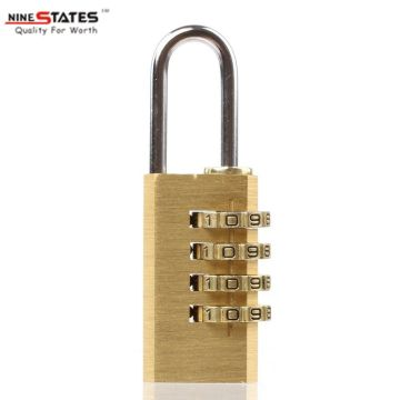 China for Combination Door Locks 21MM 4 Digit Brass Lock Password Padlock export to Mauritius Suppliers