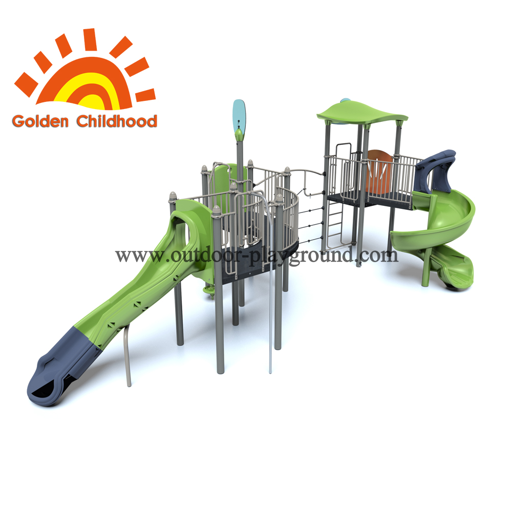 Slide Mix Outdoor Playground Equipment For Children