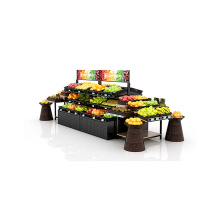 Good Quality for Double Sided Fruit Shelves Metal Fruit And Vegetable Display Stand supply to Mongolia Wholesale