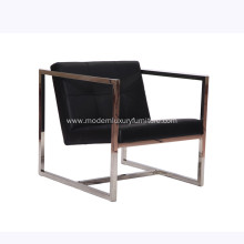 Angle Brushed Stainless Steel Lounge Chair